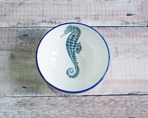 Seahorse Bowl in Blue