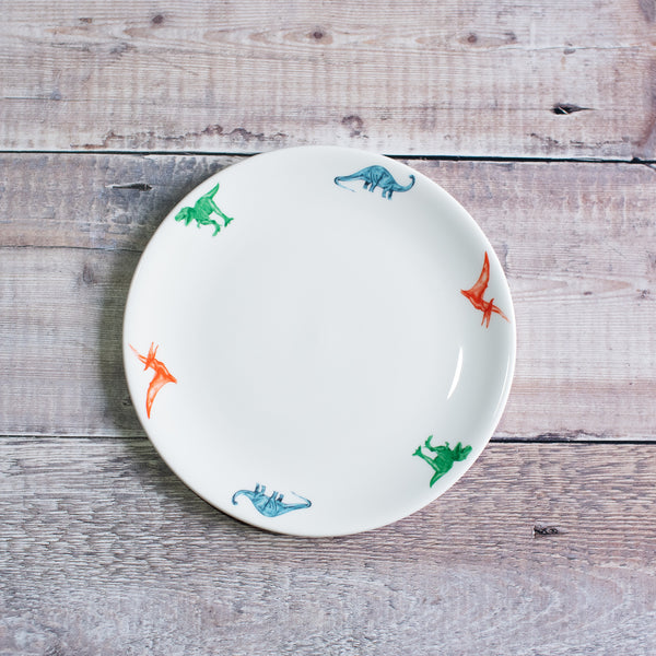 Dinnerware for children, china dinosaur plate