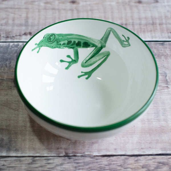 Tree Frog Bowl in Green