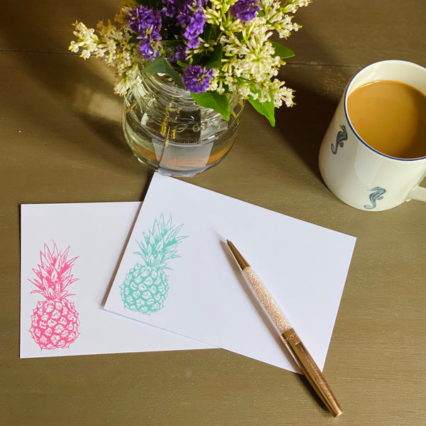 Pineapple Postcards and envelopes | Pack of 10