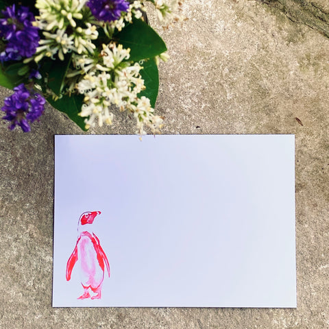 Penguin Postcards and envelopes | Pack of 10