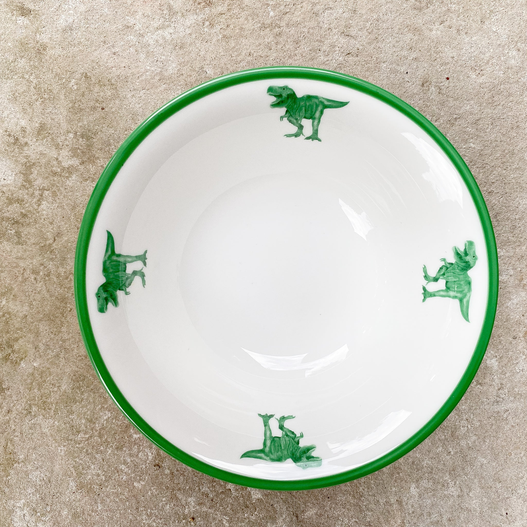 T-Rex dinosaur crockery and tableware: dinosaur cereal bowl, start your dinosaur collection to make your dinosaur dinnerware set.