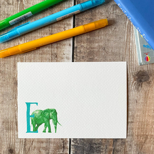 Letter E notecards