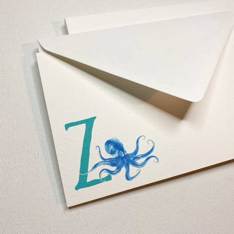 Letter Z notecards