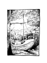 Load image into Gallery viewer, Landlocked - Original A4 Illustration