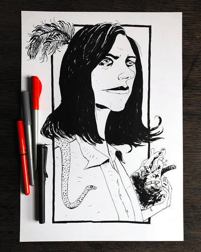PJ Harvey - Original A3 Illustration