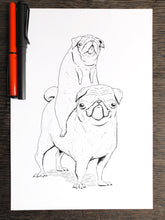 Load image into Gallery viewer, Spud & Bean - Original A4 Illustration