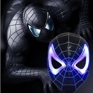 Spider Man Black LED Mask