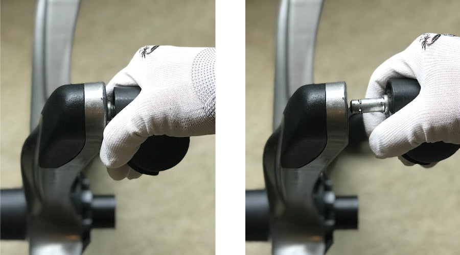 remove chair wheels with glove