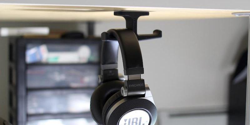 under desk headphone hanger idea