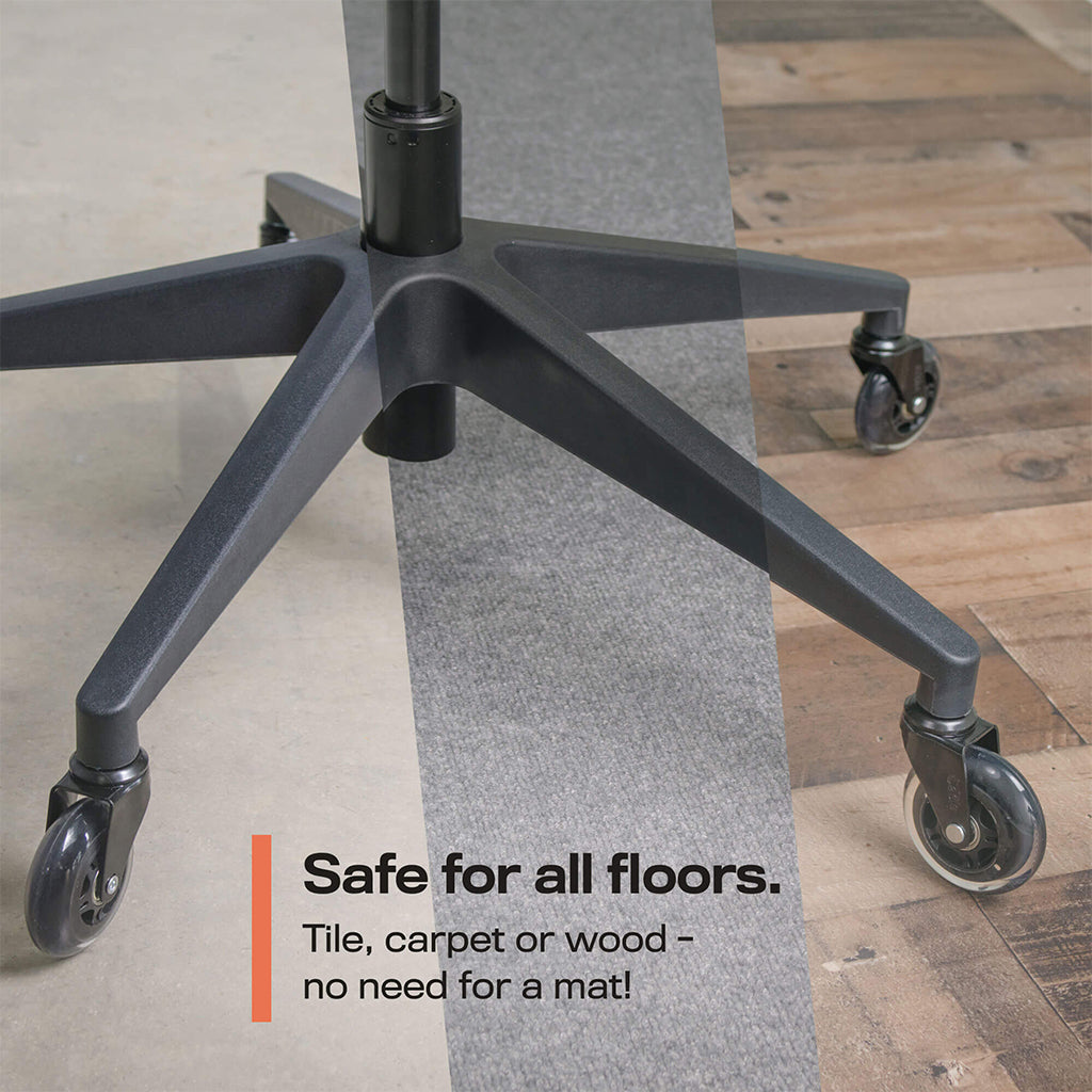 Casters; chair caster wheel with easy glide on any floor type; floor mat; carpet; hardwood