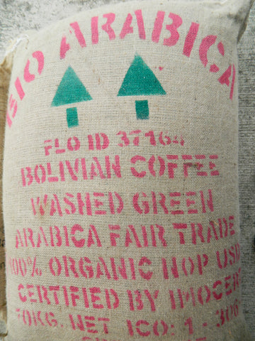 Organic Fair Trade Bolivian Yungas Bio Coffee Bag f