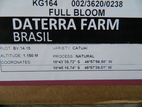 Coffee Box Label Daterra Full Bloom d