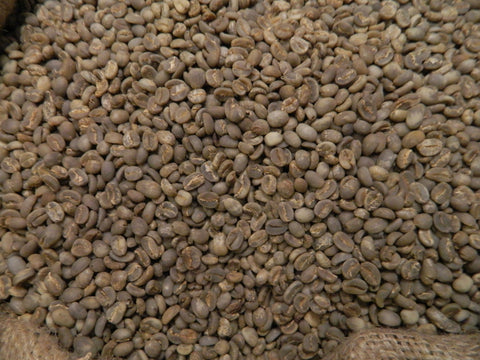 Flores green organic coffee beans