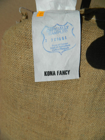 Hawaii Kona Fancy Coffee Bag Tag g