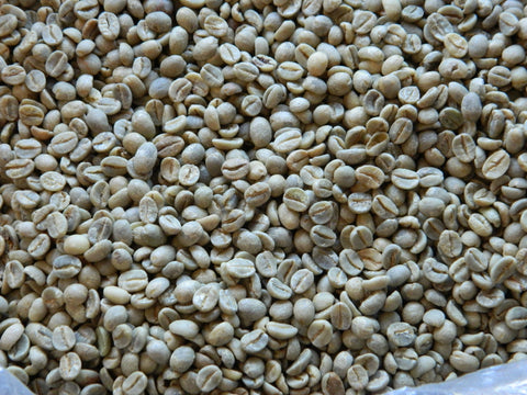 Green coffee beans from Yemen Haraaz Mountains AA E