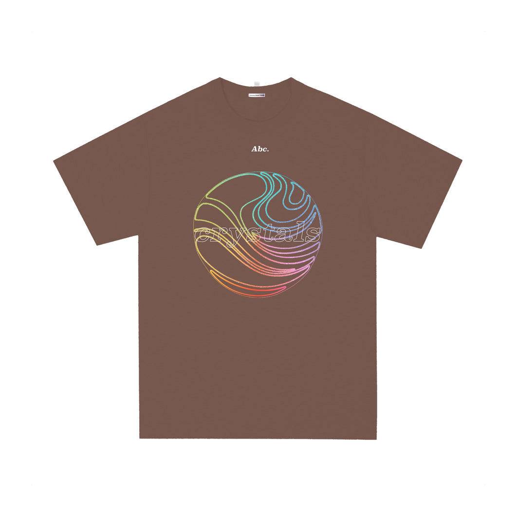 Abc. Crystals T-shirt Trail Brown