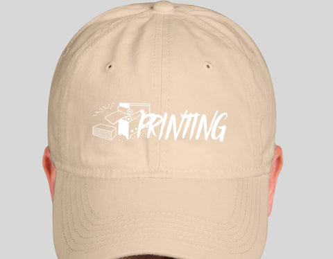 Printing Tan Dad Hat