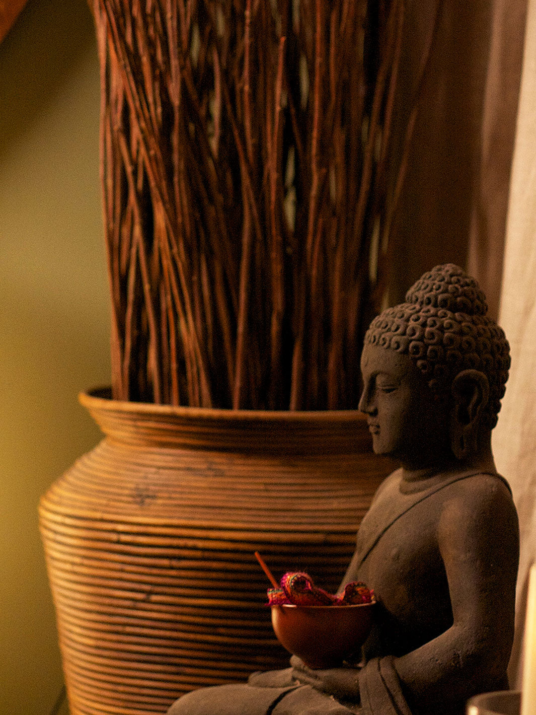 A Buddha statue in the waiting room of the Euphoria Spa