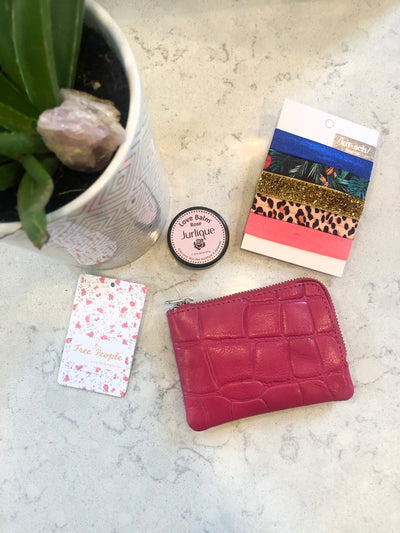Lip Balm, Hair Ties, Wallet Combo Set