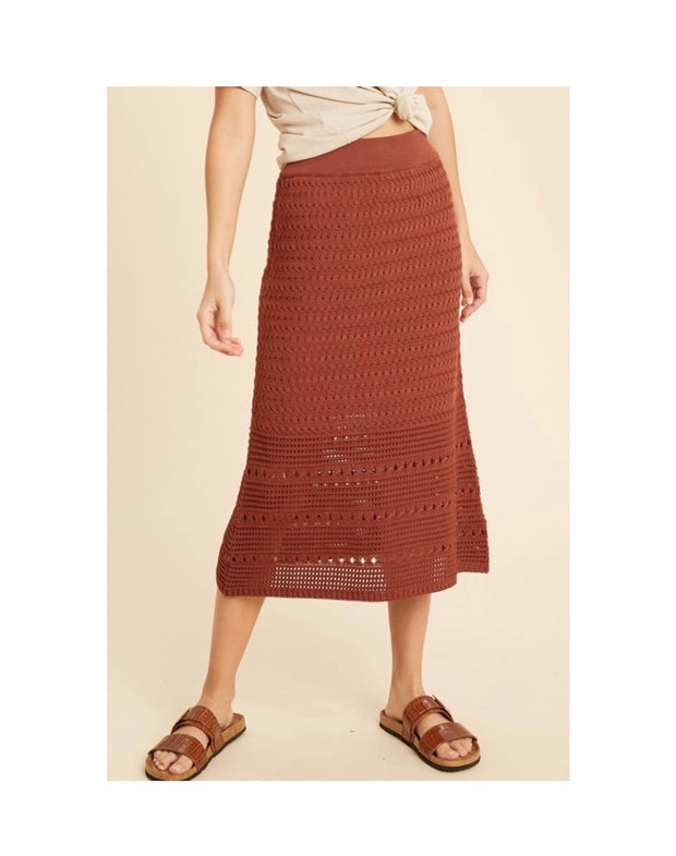 Crochet Sweater Midi Skirt
