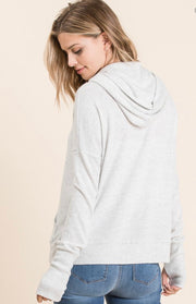 Sweater Zip Up Hoodie