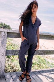 Free People Hot Shot V-Neck Onesie