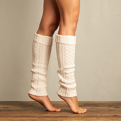 Tulle Cable Legwarmer with Cuff