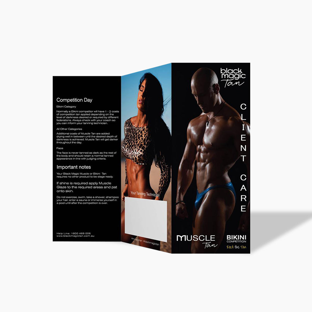 Competition Tanning Client Care Brochures