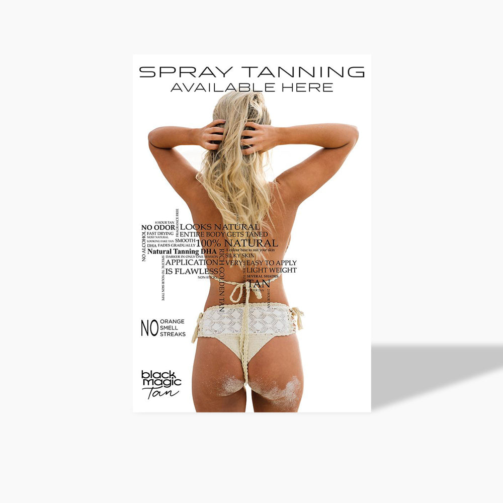 Spray Tanning Available Here Poster