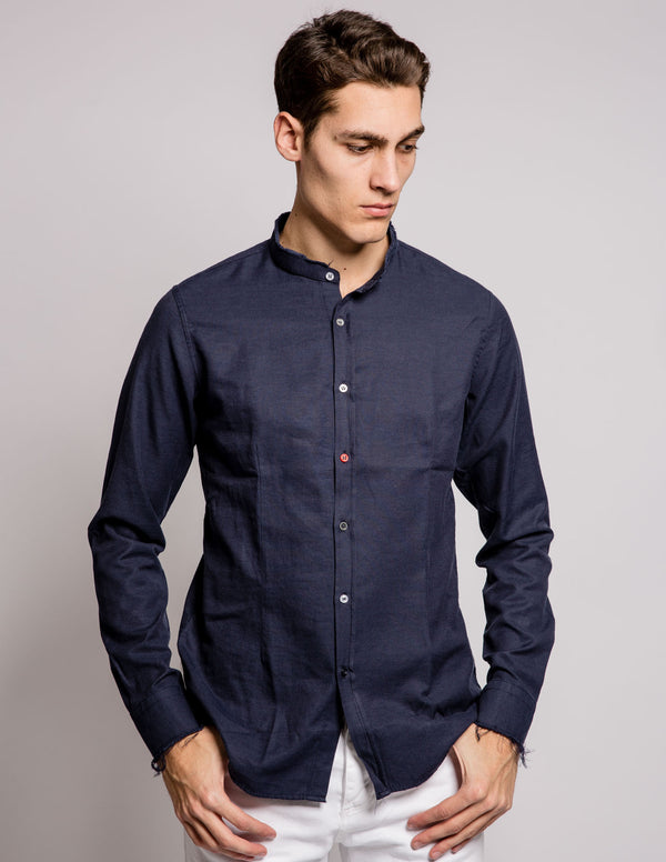 Coloured Buttons Shirt Blue