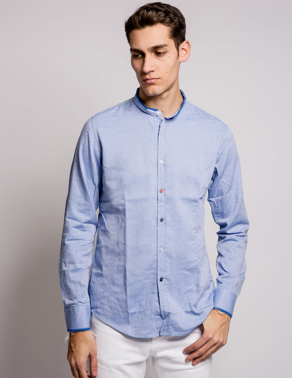 Coloured Buttons Shirt Light Blue