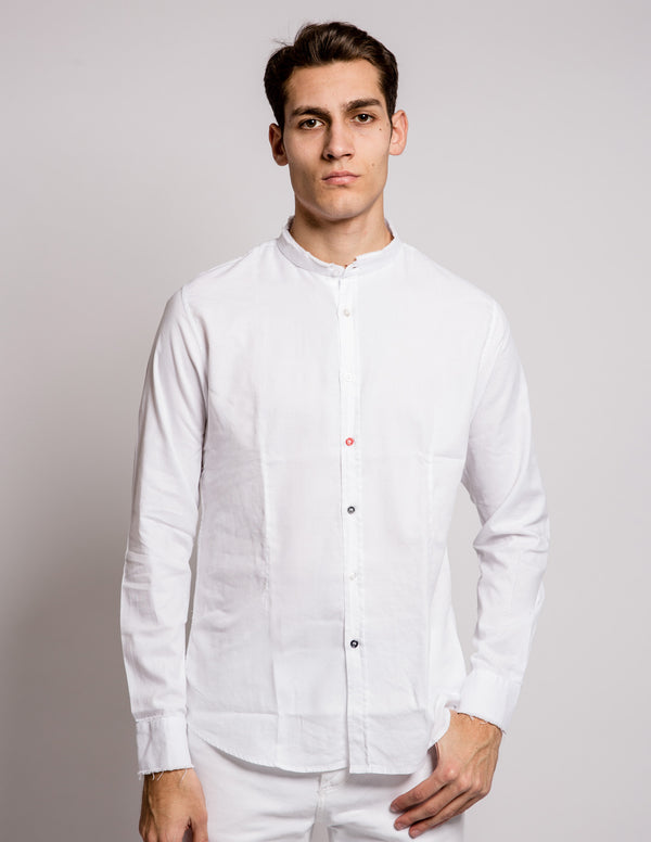 Coloured Buttons Shirt White