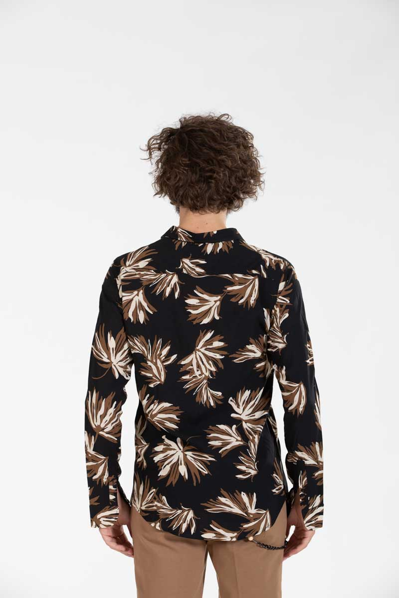 Flower Shirt Black