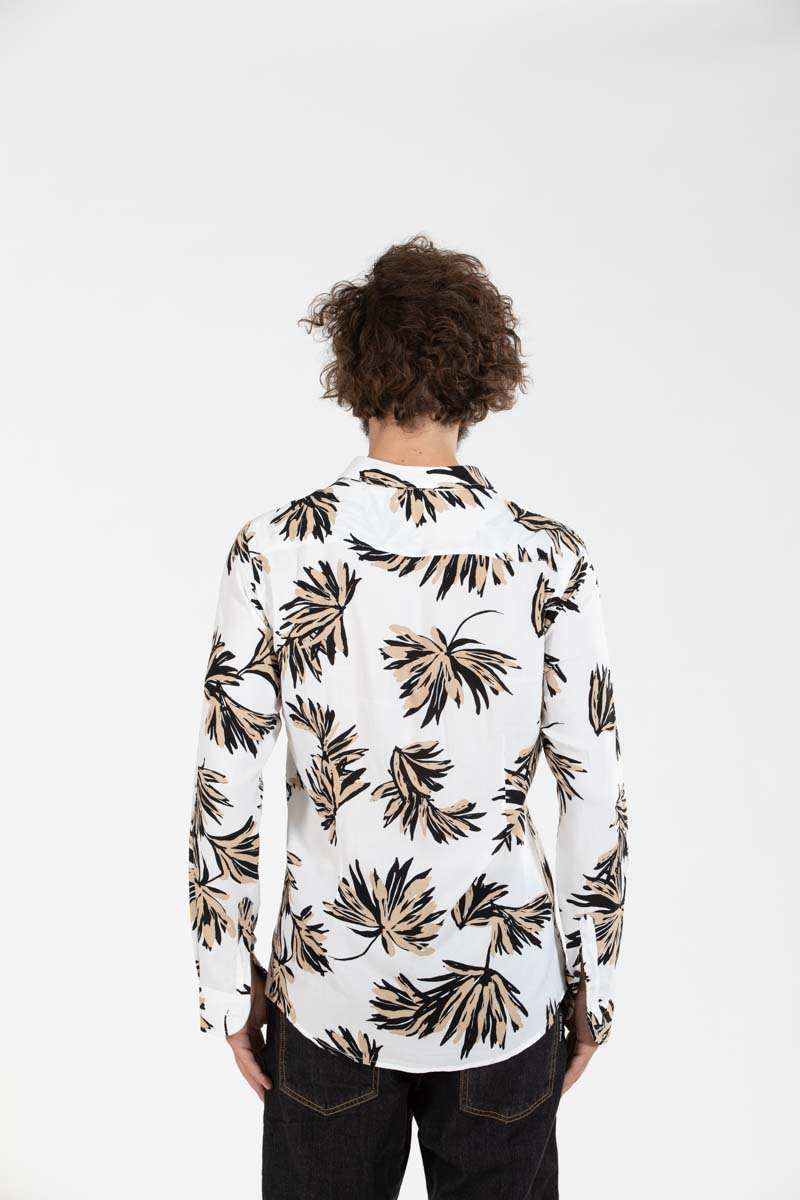Flower Shirt White