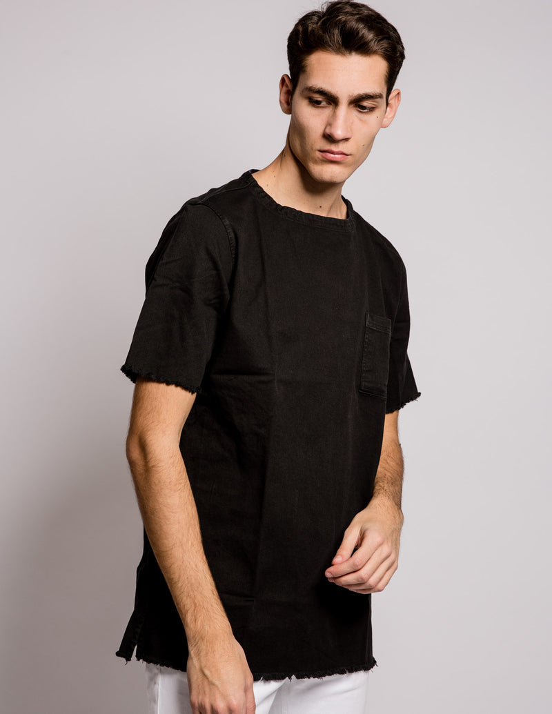 Sleeves Pocket Shirt Black