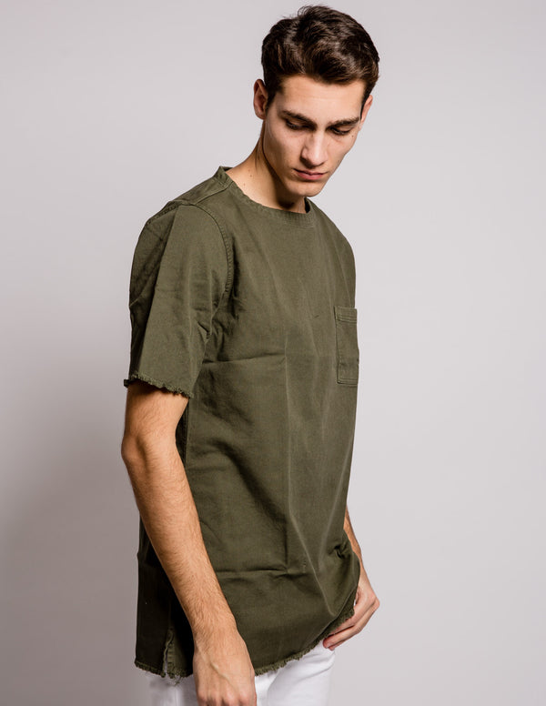 Sleeves Pocket Shirt Green