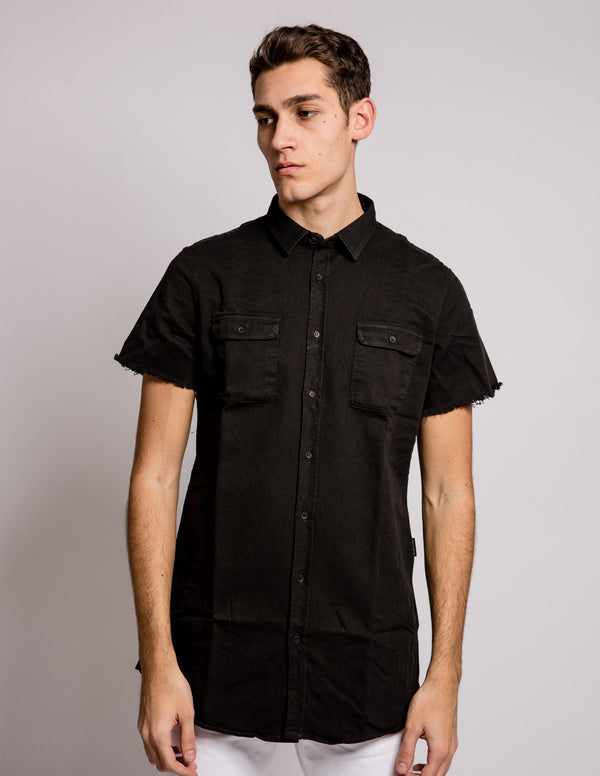 Sleeves Shirt Black