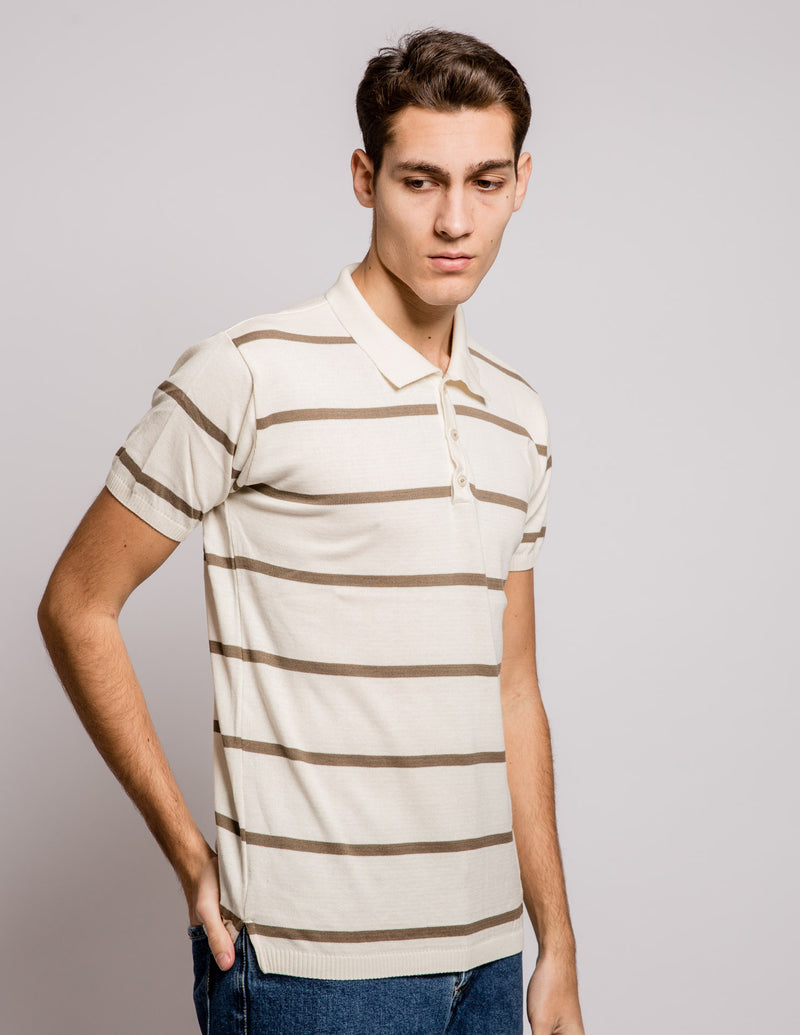 Strip Polo Cream