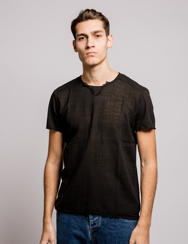 Frayed Tee Black