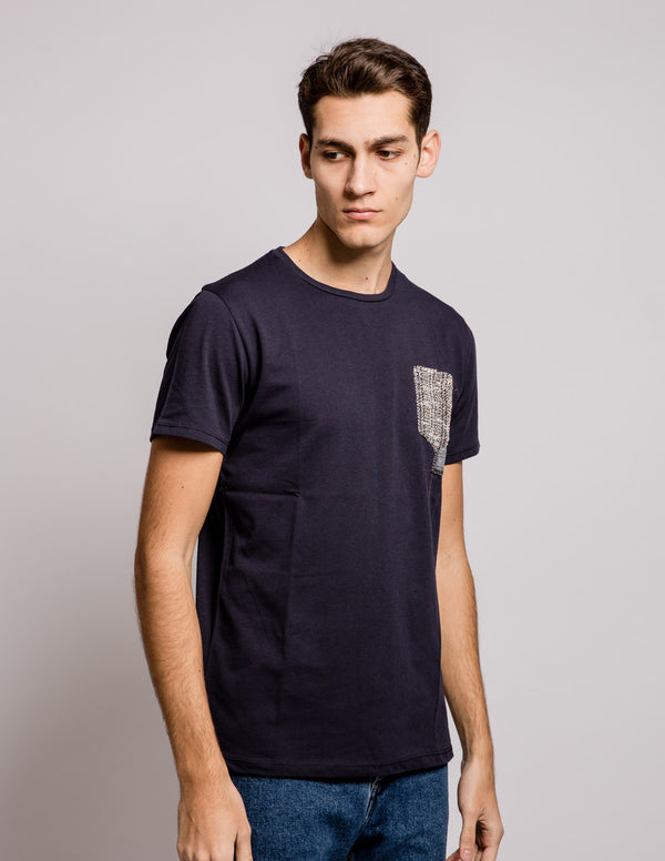 Pocket Contrast Tee Blue