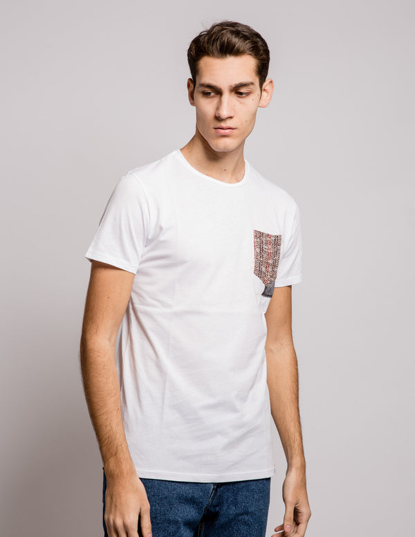 Pocket Contrast Tee White