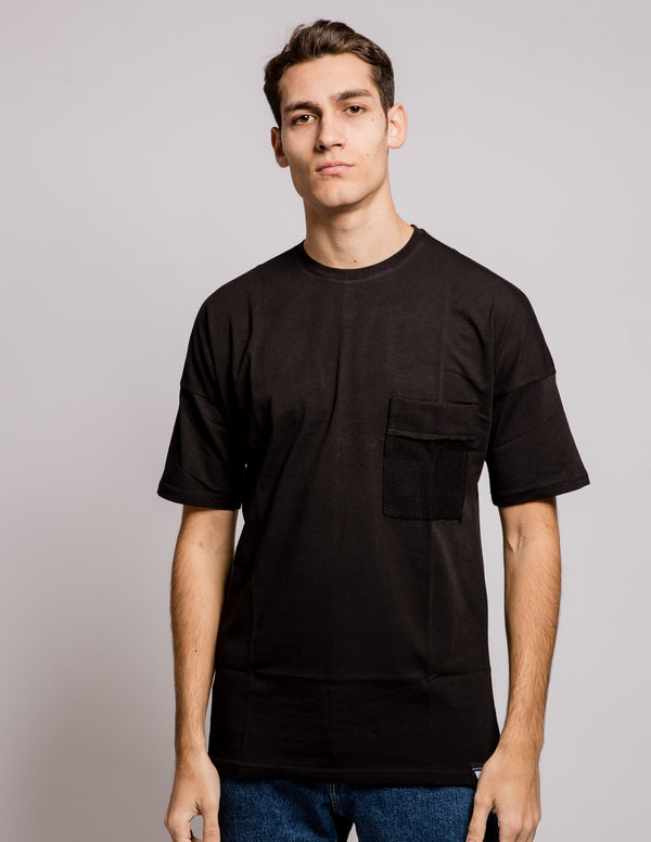 Pocket Mix Tee Black