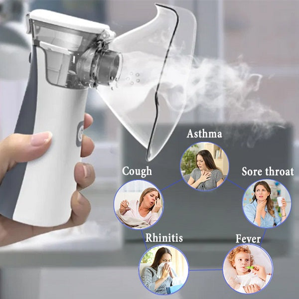 Breath Max Portable Nebulizer Machine - QUIET & CONVENIENT