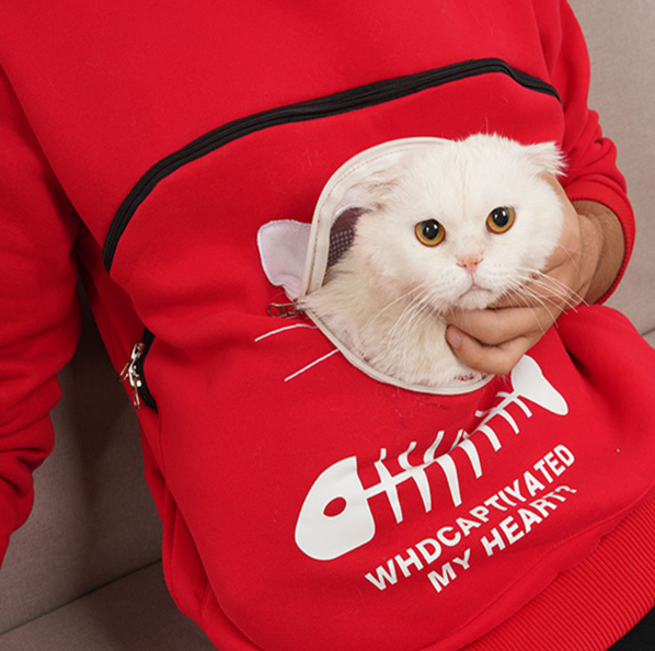 【50% OFF TODAY】2-IN-1 Perfect Hoodie With Cat Pocket For Cat Lovers