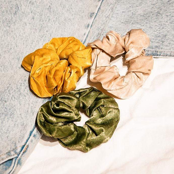Accessories HAIR SCRUNCHIES (set of 3) Moi Accessories