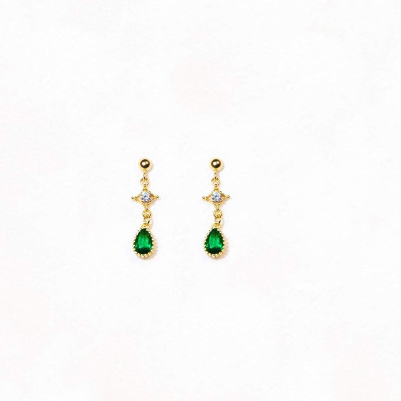 Earrings ALMA DROPS - GOLD VERMEIL Moi Accessories