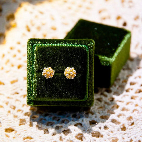 Earrings ARYA PEARL STUDS - 14K GOLD-PLATED Moi Accessories
