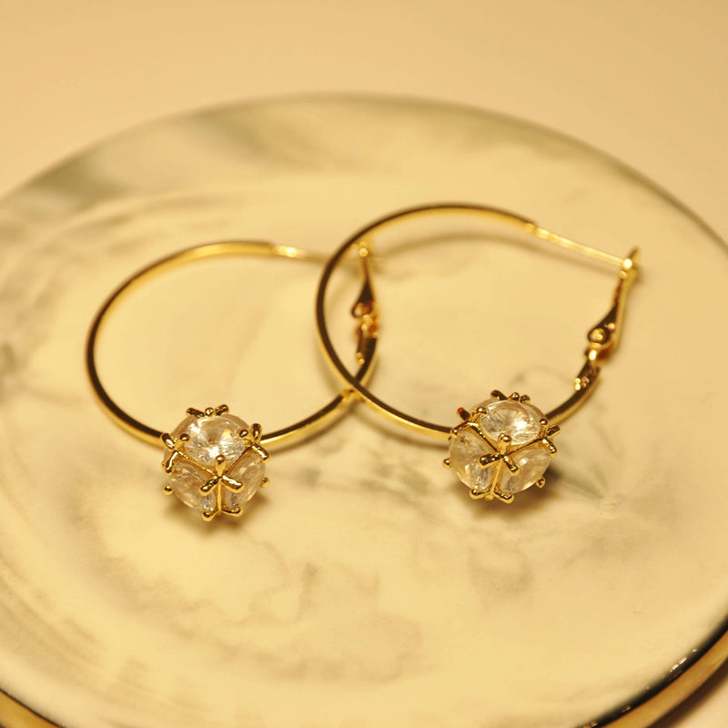 Earrings BELLA HOOPS - 14K GOLD-PLATED Moi Accessories