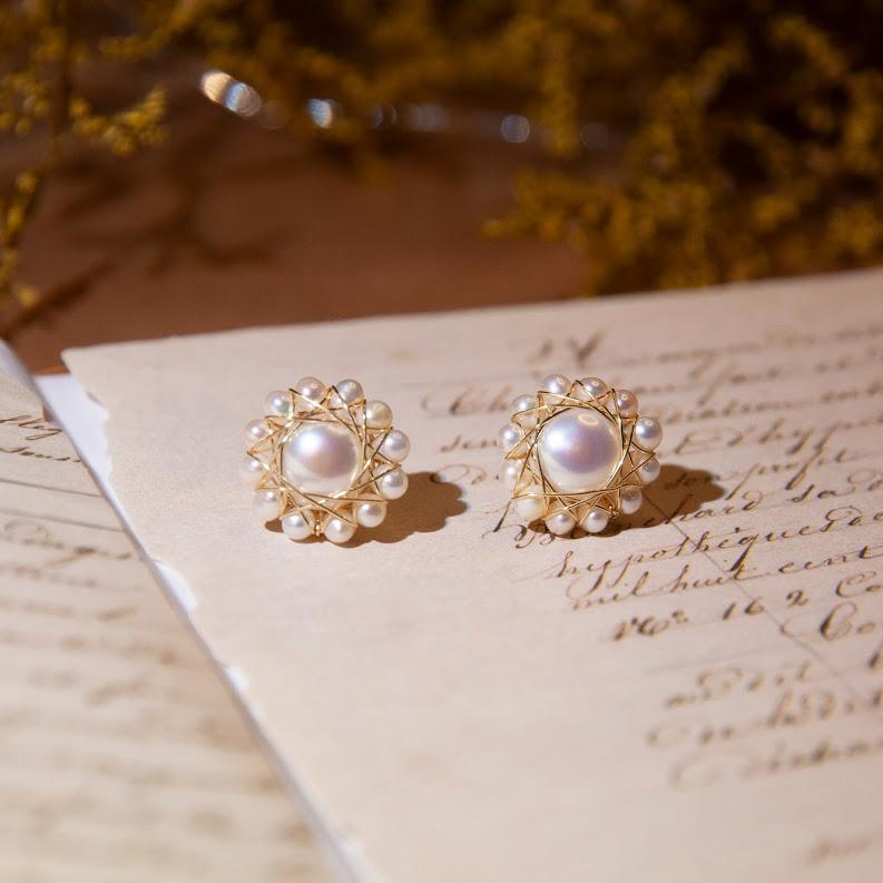 Earrings Sunny Pearl Studs - 14K Gold-Filled Moi Accessories